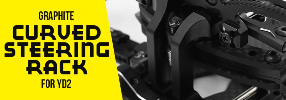 Graphite Curved Steering Rack For Yokomo's YD2