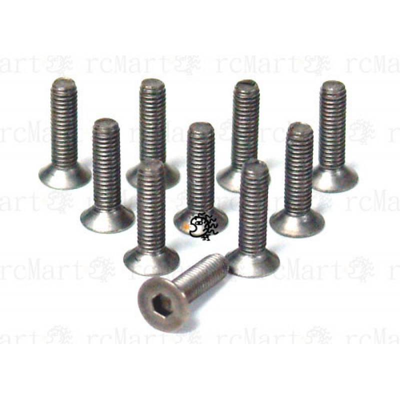 3x12mm  Hex Socket Flat Head Titanium Screws