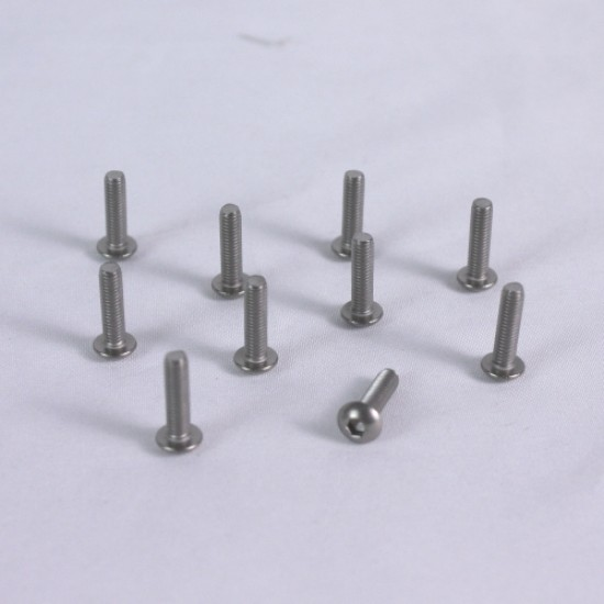 3x6mm  Hex Socket Button Head Titanium Screws