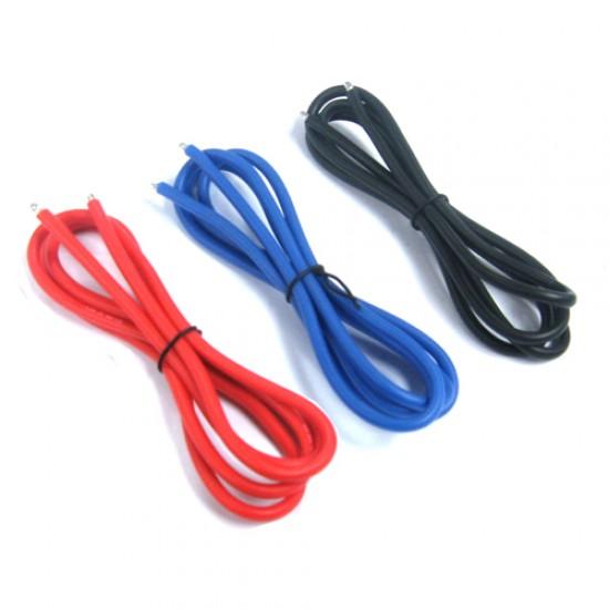 12AWG Silver Silicone Wire Set (BK/BU/RD)