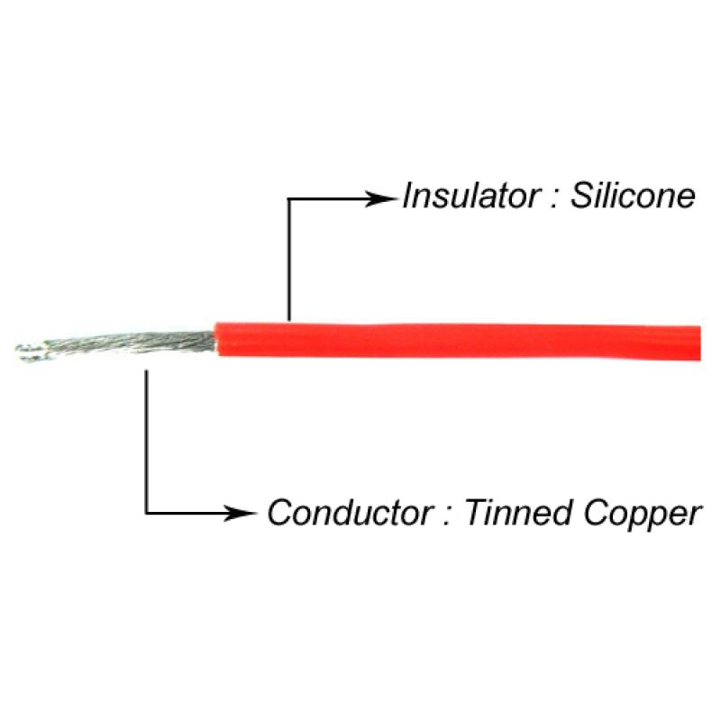 14AWG Silver Silicone Wire Set (BK/BU/RD)