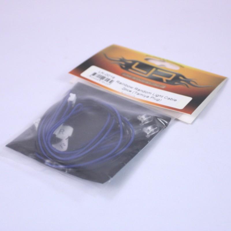5mm Rainbow Random Light Cable 2pcs (Tamiya Plug)
