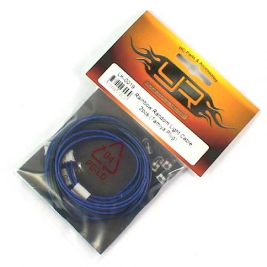 5mm Rainbow Random Light Cable 2pcs (YR Plug)