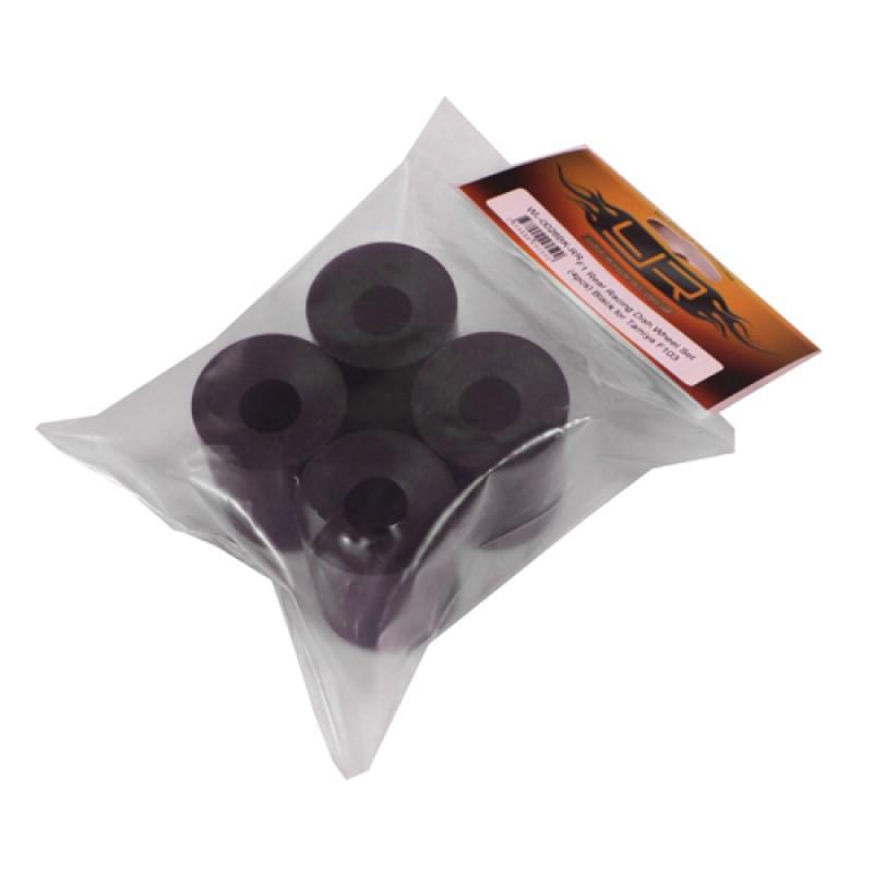 F1 Rear Racing Dish Wheel Set (4pcs) Black for Tamiya F103