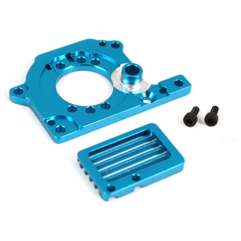 Aluminum Motor Mount with Heat Sink Full Set (BU) For Tamiya M05 & M05 Pro
