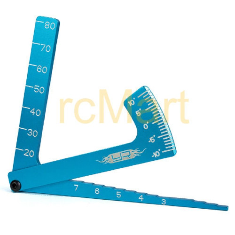 3 in 1 Camber Gauge (BU) for all 1/8 & 1/10 on road cars