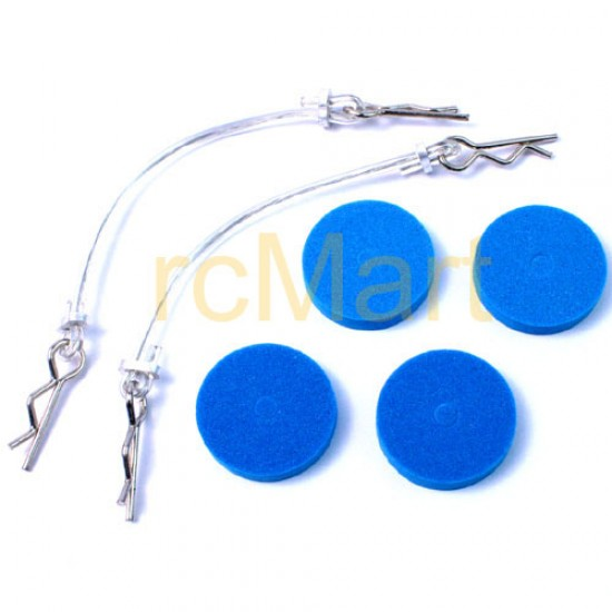 Body Protect Sponge Pad (BU) with wire 75mm & clip set for all 1:10 cars