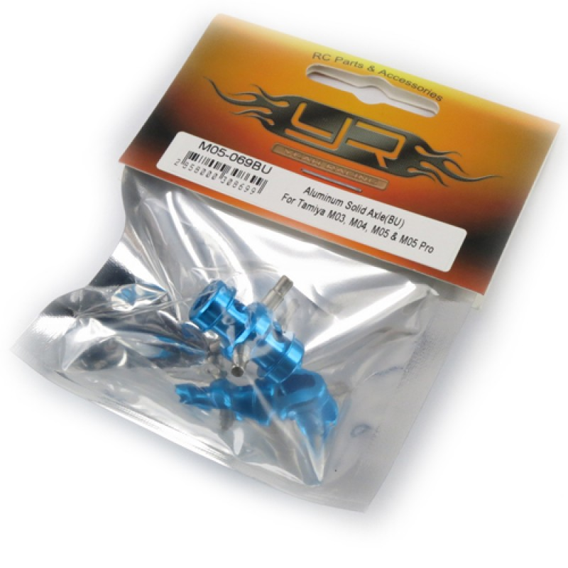 Aluminum Solid Axle Blue For Tamiya M05 M06