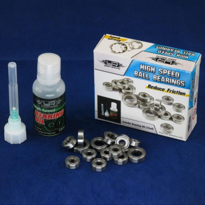 RC PTFE Bearing Set with Bearing Oil For Tamiya F104W Chassis