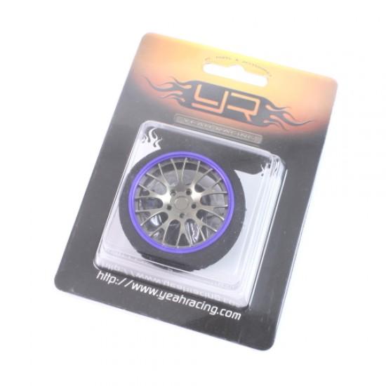 Aluminum 10YBK-Spoke Transmitter Steering Wheel Dark Blue For Futaba KO Sanwa Flysky NB4
