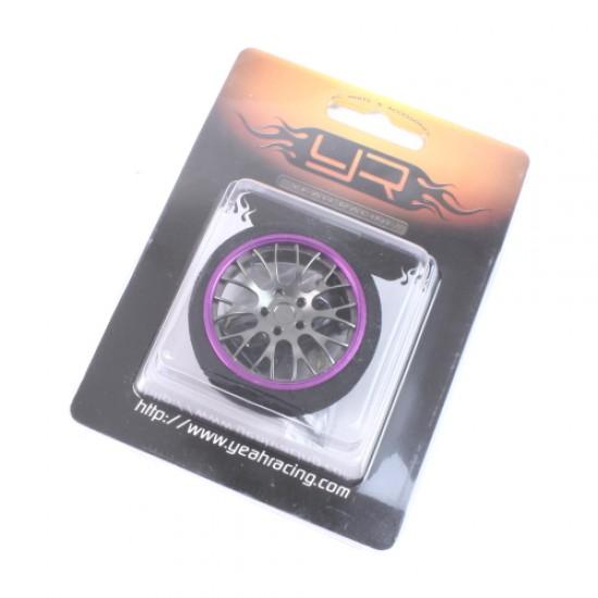 Aluminum 10YBK-Spoke Transmitter Steering Wheel Purple For Futaba KO Sanwa Flysky NB4