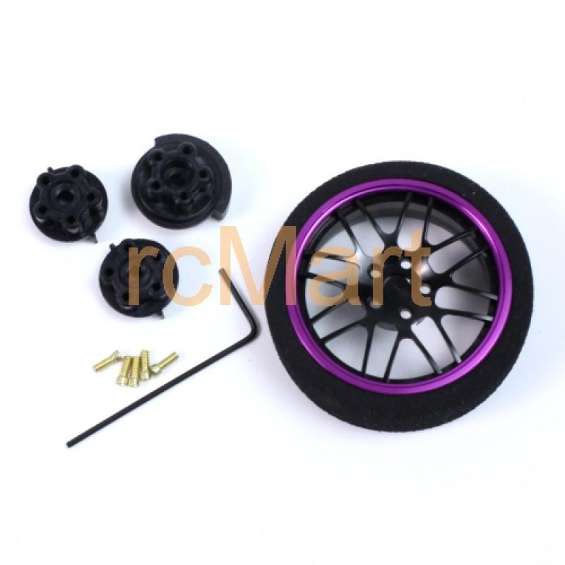 Aluminum 8YBK-Spoke Transmitter Steering Wheel Purple For Futaba KO Sanwa Flysky NB4