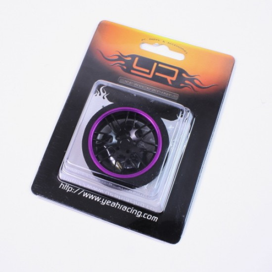 Aluminum 8YBK-Spoke Transmitter Steering Wheel Purple For Futaba KO Sanwa Flysky NB4