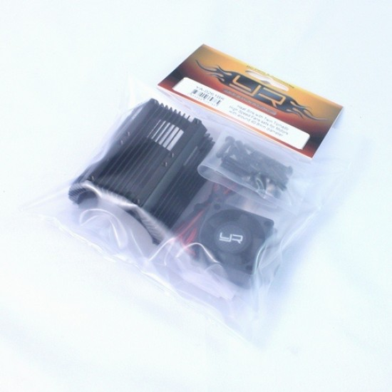 Heat Sink with Twin Tornado High Speed Fans sets for 1:8 Motors with around 40.8mm diameter