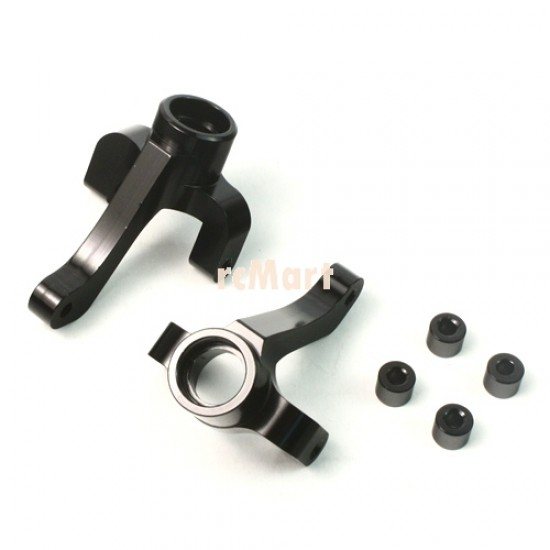 Aluminum Rear Hub set with washers (BK) for Tamiya Avante 2011 / Egress