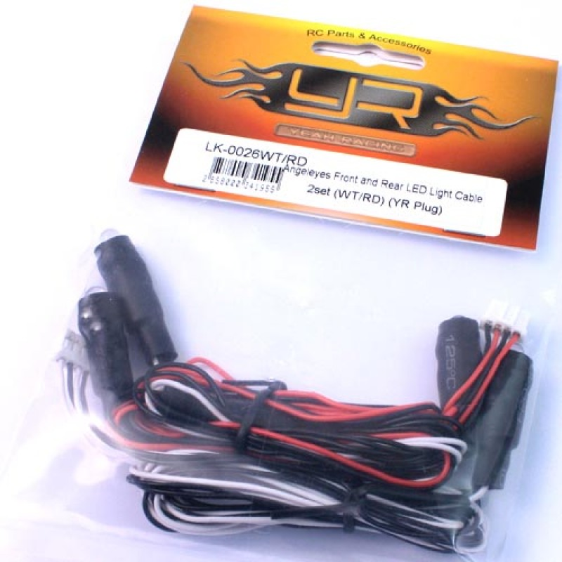 Angeleyes Front and Rear LED Light Cable 2set (WT/RD) (YR Plug)