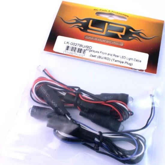 Angeleyes Front and Rear LED Light Cable 2set (BU/RD) (Tamiya Plug)