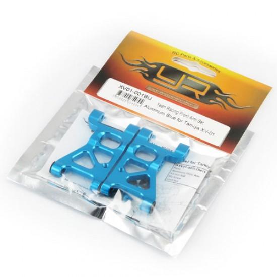 Front Arm Set Aluminum Blue for Tamiya XV-01