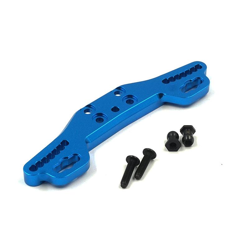 Rear Shock/Damper Tower Aluminum Blue for Tamiya XV-01