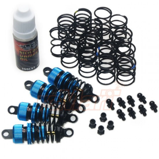 Shock-Gear 50mm Damper Set for 1/10 RC Touring M-Chassis Car Blue