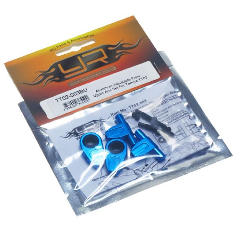Aluminum Adjustable Front Upper Arm Set For Tamiya TT02