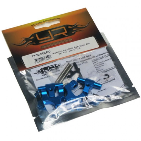 Aluminum Adjustable Rear Upper Arm Set For Tamiya TT02