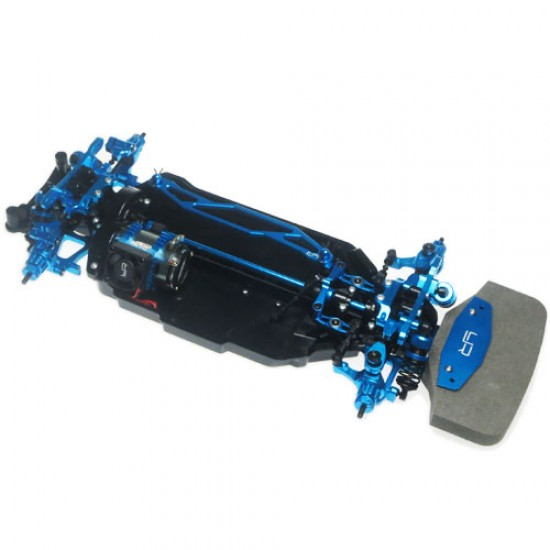 Aluminum Conversion Kit For Tamiya TT02 Blue