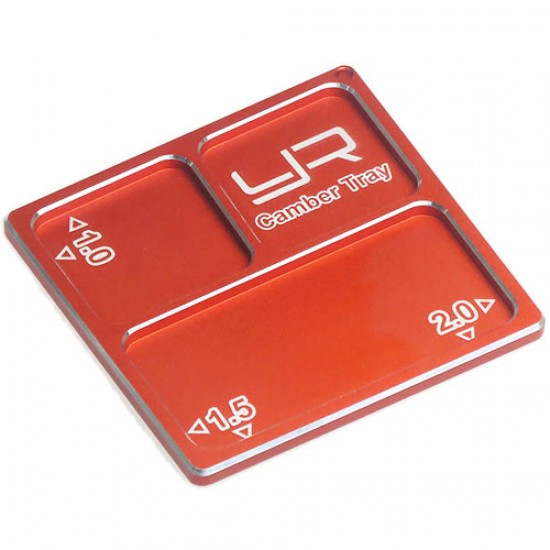 2 In 1 Aluminum Camber Gauge Tray 1.0 1.5 2 Angles Orange For 1/10