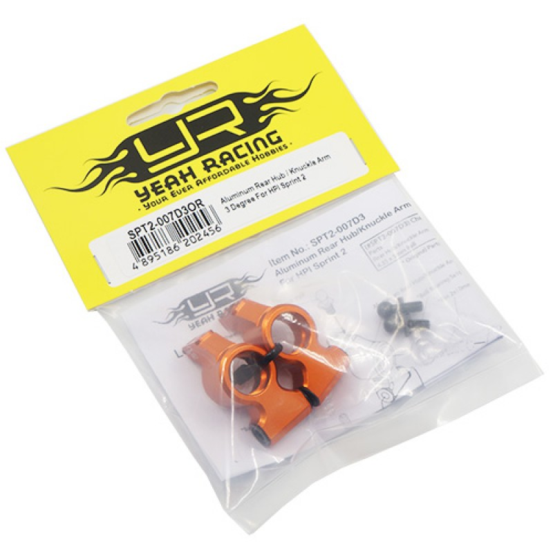 Aluminum Rear Hub/Knuckle Arm Toe-In 3 Degree For HPI Sprint 2