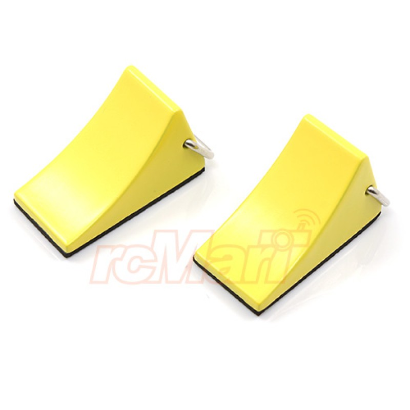 1/10 RC Rock Crawler Accessory Reifenstopper 2pcs Yellow For Tractor Truck