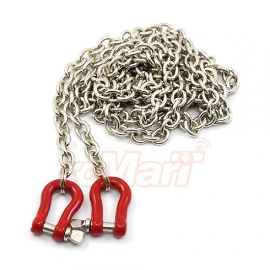 1/10 RC Rock Crawler Accessory 96cm Long Chain with Buckle Red
