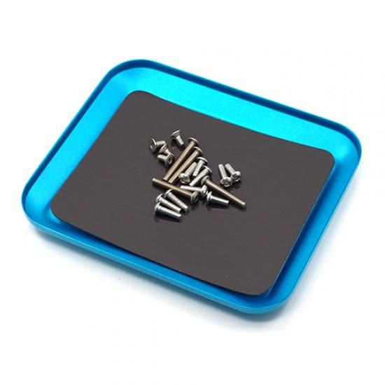 Aluminium Screw Tray Blue 12cm X 10cm X 1.5cm