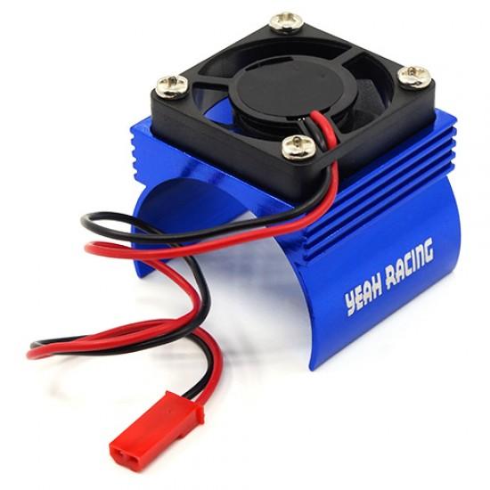 Aluminum 540 Motor Heat Sink w/ Cooling Fan Blue
