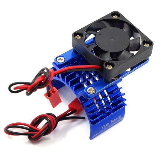 Aluminum 540 Motor Heat Sink w/ Cooling Fan Blue