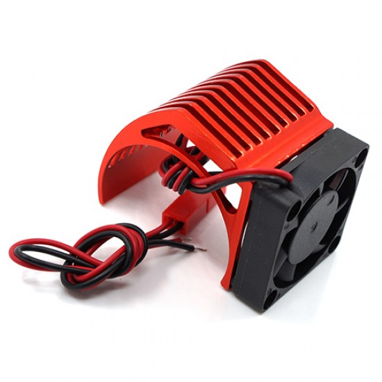 Aluminum 540 Motor Heat Sink w/ Cooling Fan Red