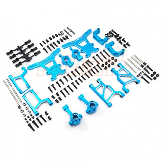 Aluminum Long-Span Suspension Arms and Knuckles Performance Upgrade Kit For Tamiya WR02/WR02G/GF01