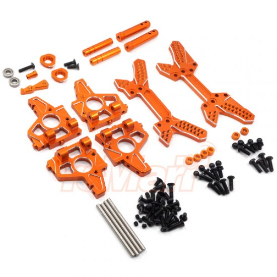 Aluminum Endurance Conversion Kit For HPI Sprint 2 Orange