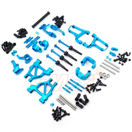 Aluminum Long-Span Suspension Arms And Knuckles Performance Upgrade Kit For Tamiya MF01X