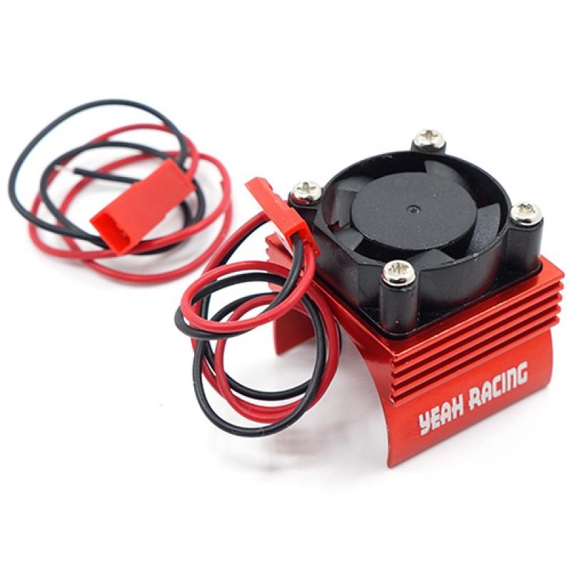 Aluminum 380 Motor Heat Sink w/ Cooling Fan Red