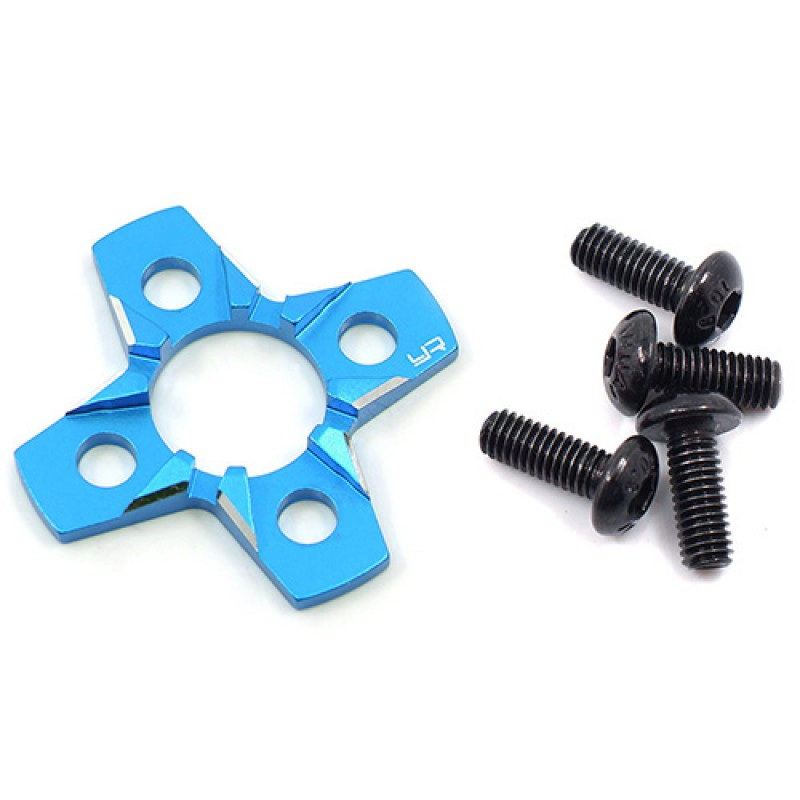 Aluminum Spur Gear Support Plate Type-C For 1/10 Drift Blue