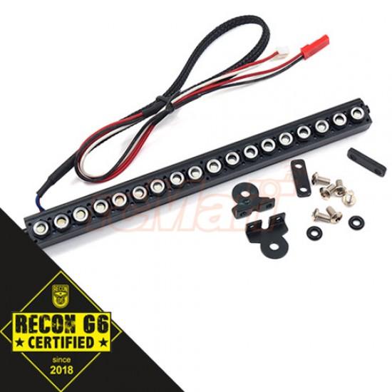 1/10 Aluminum White LED Light Bar Black for Crawler 'G6 Certified'