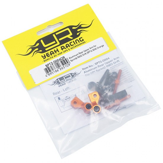 Aluminum Rear Upper Arm for Sprint 2 RWD Drift SPT2-S04 Orange