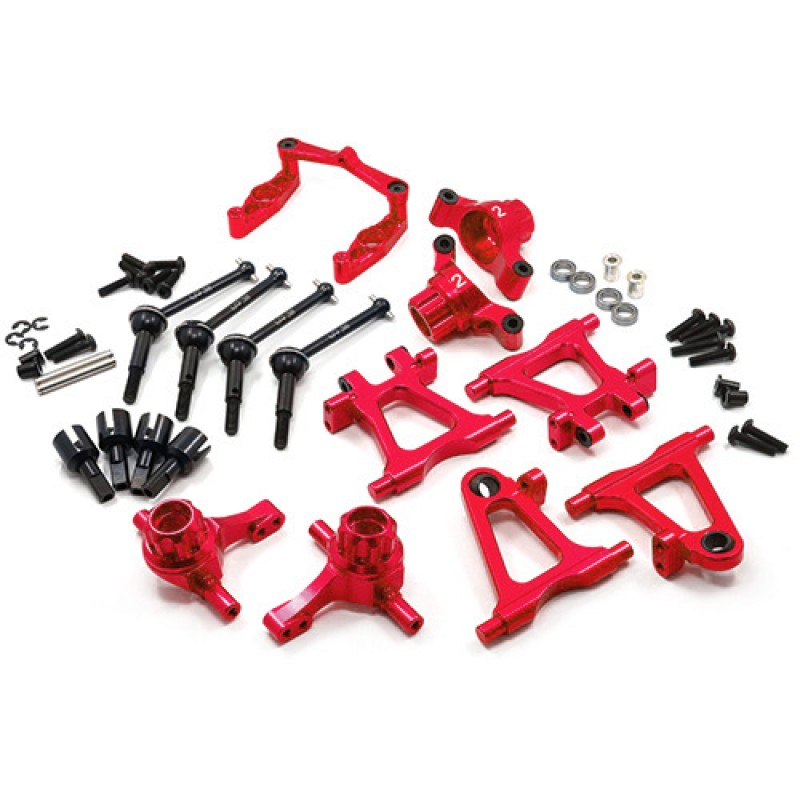Aluminum Essential Conversion Kit Red For Tamiya TT02