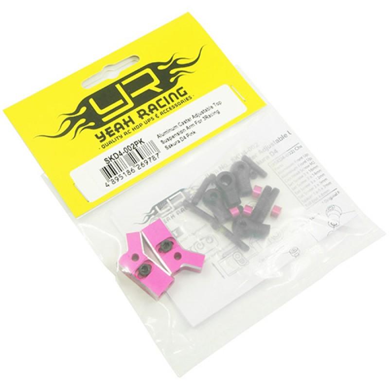 Aluminum Caster Adjustable Top Suspension Arm For 3Racing Sakura D4 Pink