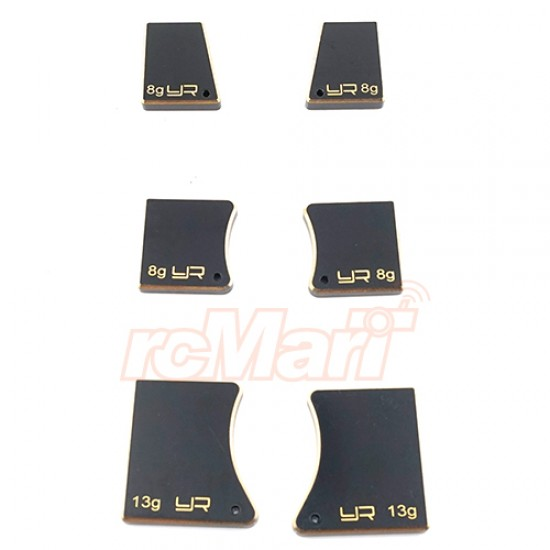 Brass Chassis Balancing Weights for 1/10 Touring & Drift 6pcs