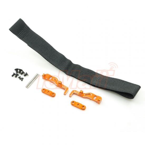 Aluminum Adjustable Lipo Battery Mount For XRAY T4 Orange