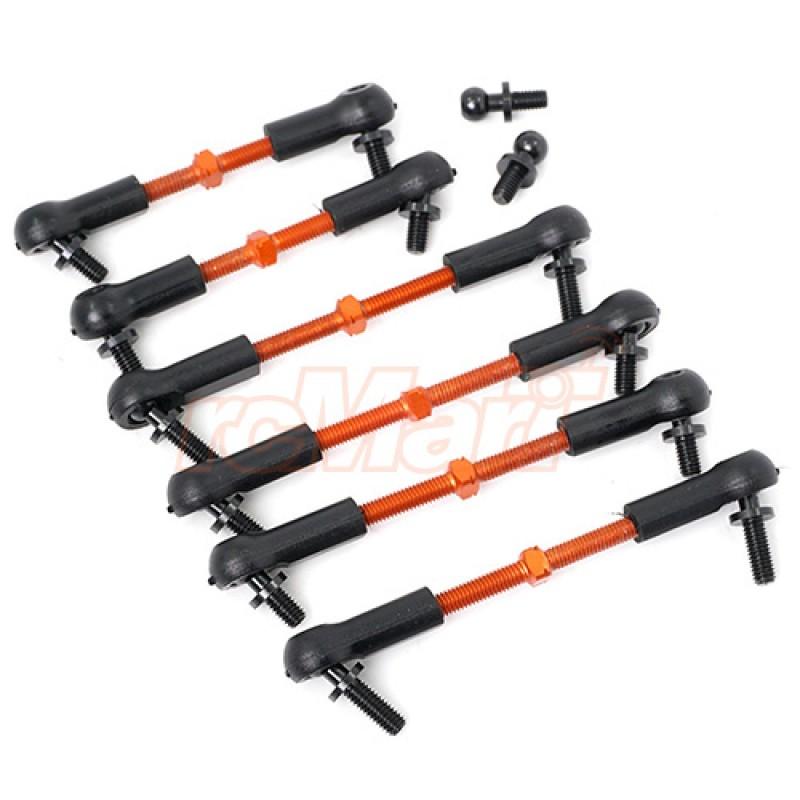 7075 Aluminum Tie Rod Set For HPI RS4 Sport3 Orange