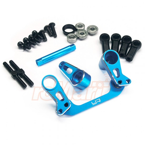 Aluminum Bearing Supported Steering Rack Blue For Tamiya CC01