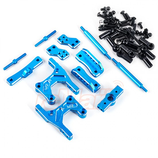 Aluminum Rear Four Link Conversion Blue For Tamiya CC01