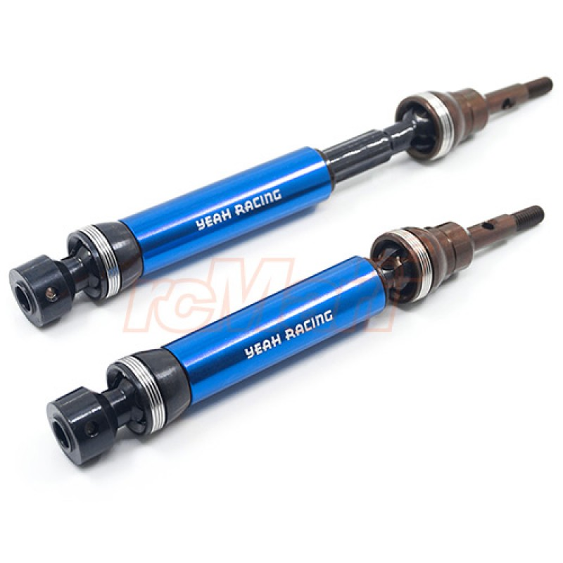 HD Tool Steel Front Universal Drive Shafts for Traxxas 1/10 Slash Stampede 4X4 Blue